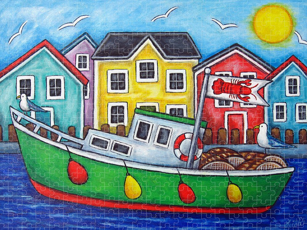 Lisa Lorenz Puzzle featuring the painting Maritime Special by Lisa Lorenz
