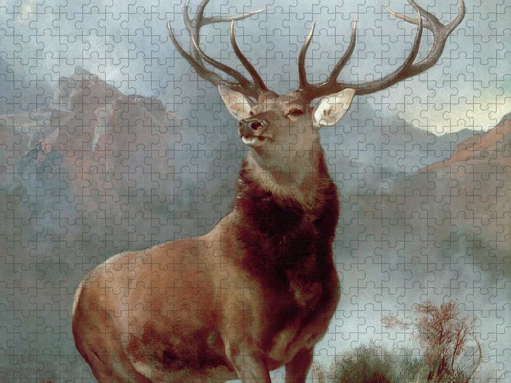 Monarch Puzzle featuring the painting Monarch of the Glen by Sir Edwin Landseer