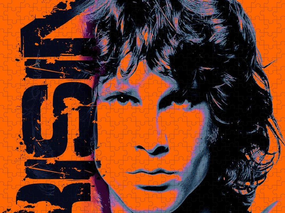 The Doors Puzzle featuring the digital art Mr Mojo Risin by Mal Bray