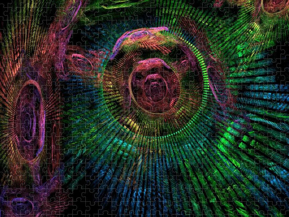 Fractal Puzzle featuring the digital art My Mind's Eye by Lyle Hatch