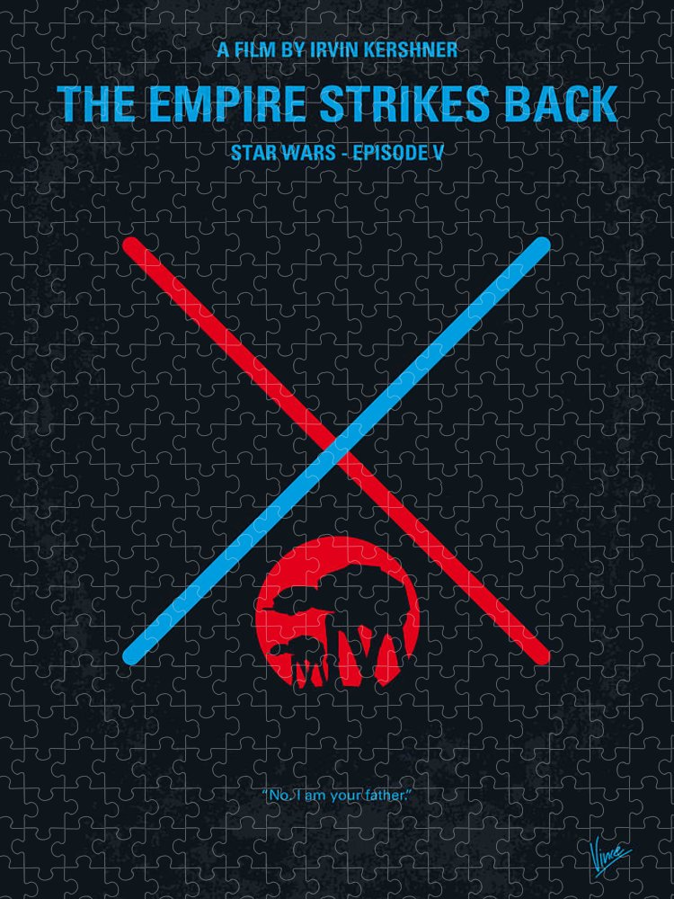 Star Puzzle featuring the digital art No155 My STAR WARS Episode V The Empire Strikes Back minimal movie poster by Chungkong Art