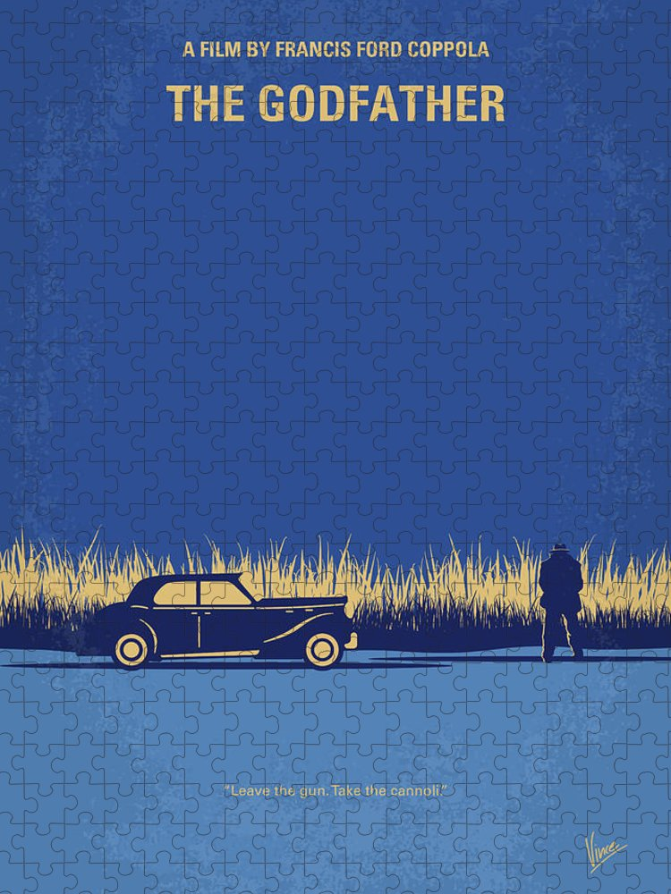 The Puzzle featuring the digital art No686-1 My Godfather I minimal movie poster by Chungkong Art