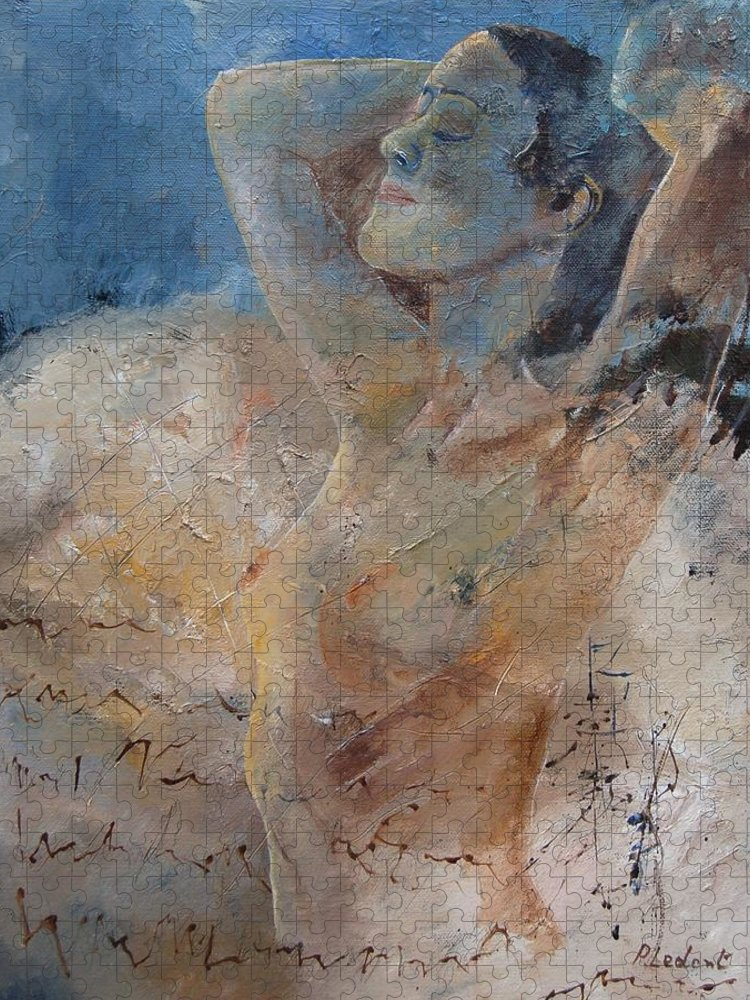 Nude Puzzle featuring the painting Nude 0508 by Pol Ledent