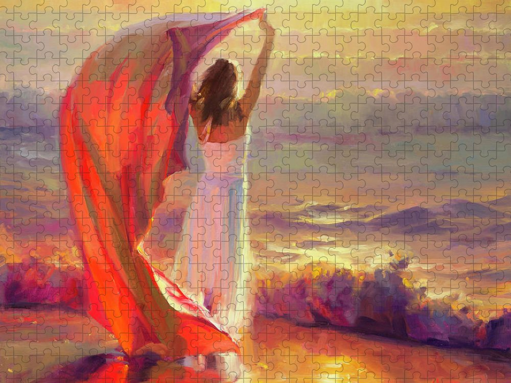 Ocean Puzzle featuring the painting Ocean Breeze by Steve Henderson