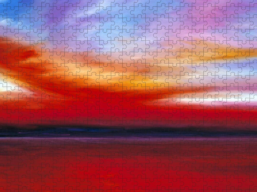 Clouds Puzzle featuring the painting October Sky by James Christopher Hill