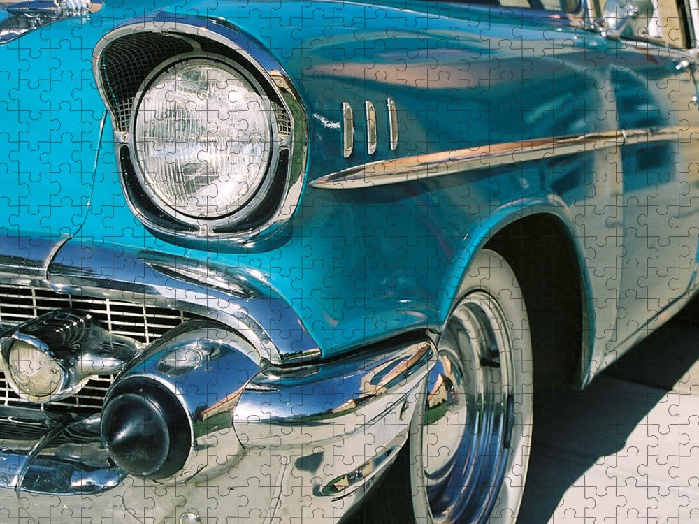 Chevy Puzzle featuring the photograph Old Chevy by Steve Karol