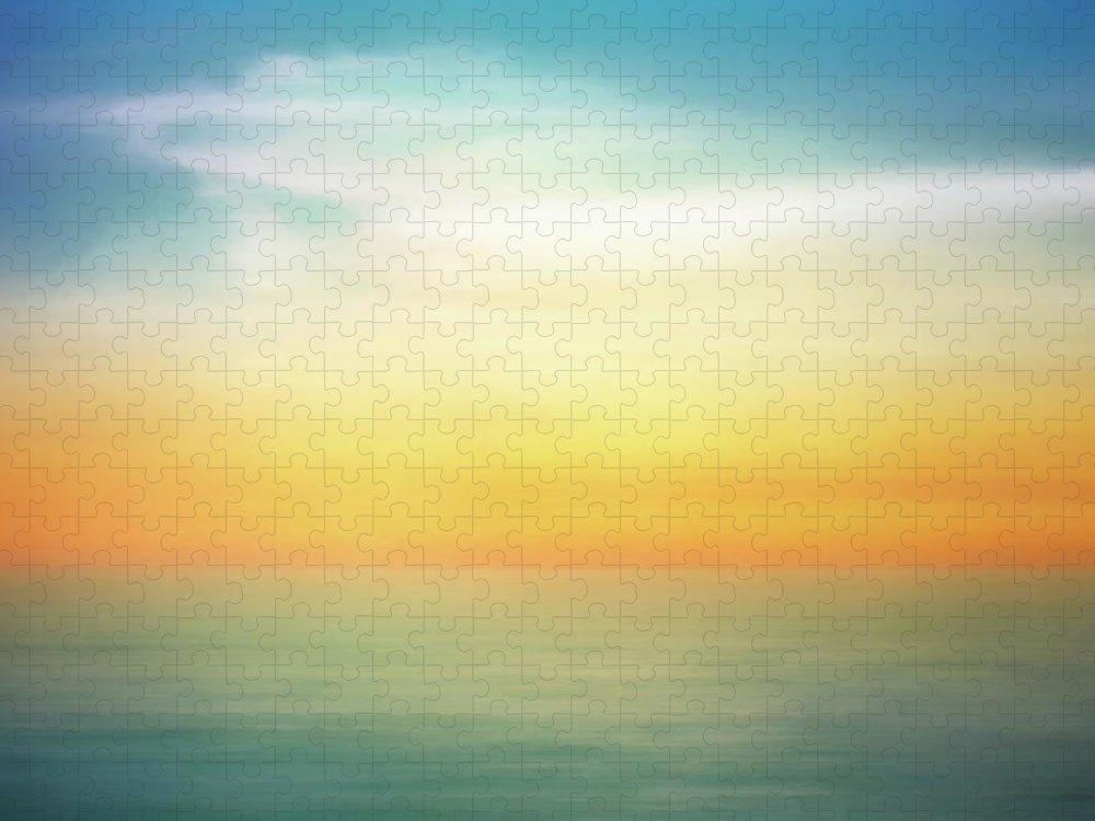 Pastel Puzzle featuring the digital art Pastel Sunrise by Scott Norris