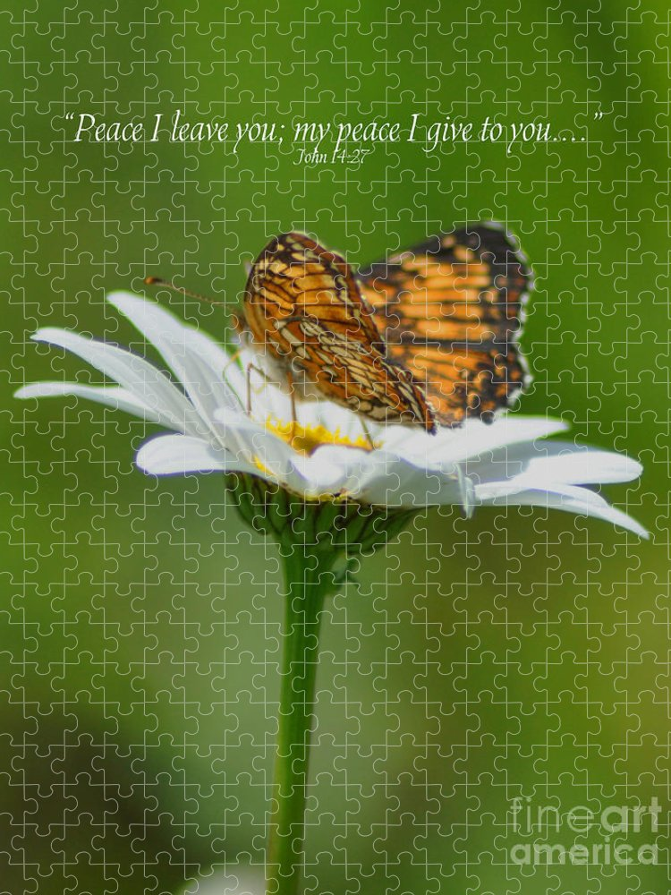 Diane Berry Puzzle featuring the photograph Peace I Leave You by Diane E Berry
