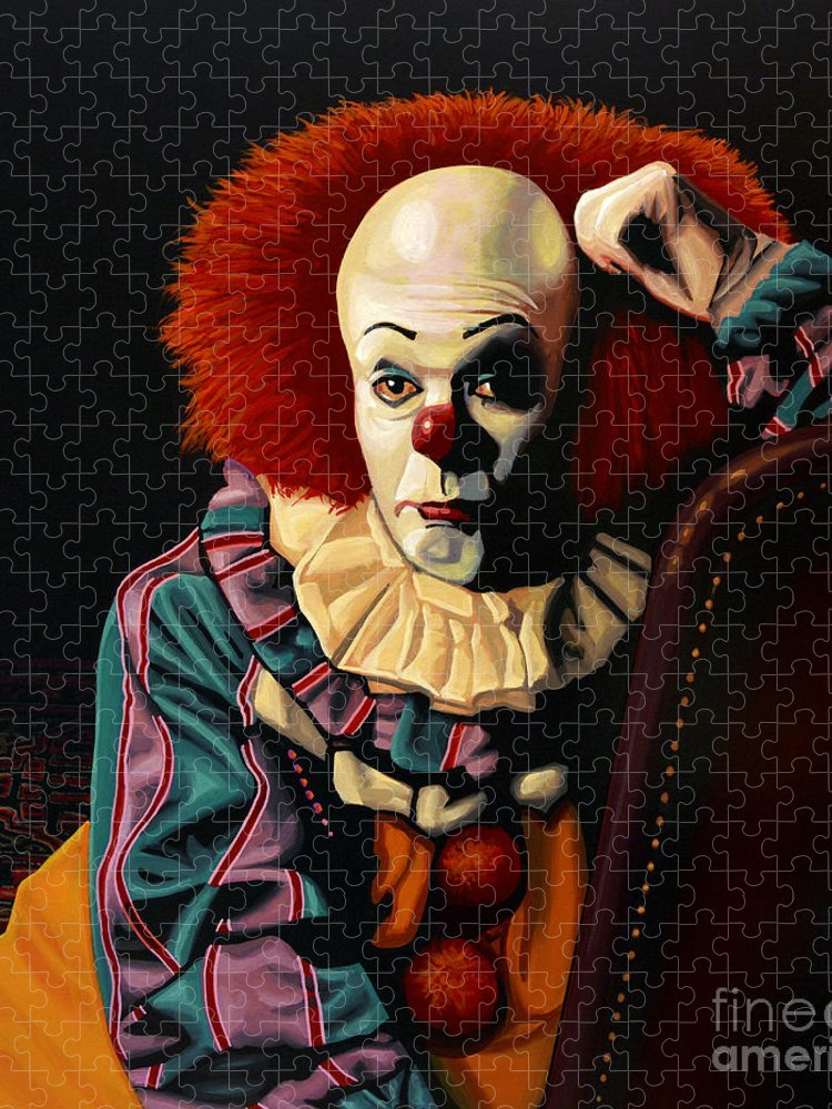 Pennywise Puzzle featuring the painting Pennywise by Paul Meijering