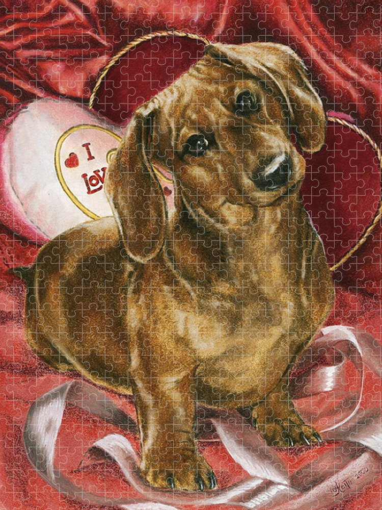 Purebred Puzzle featuring the mixed media Be Mine by Barbara Keith