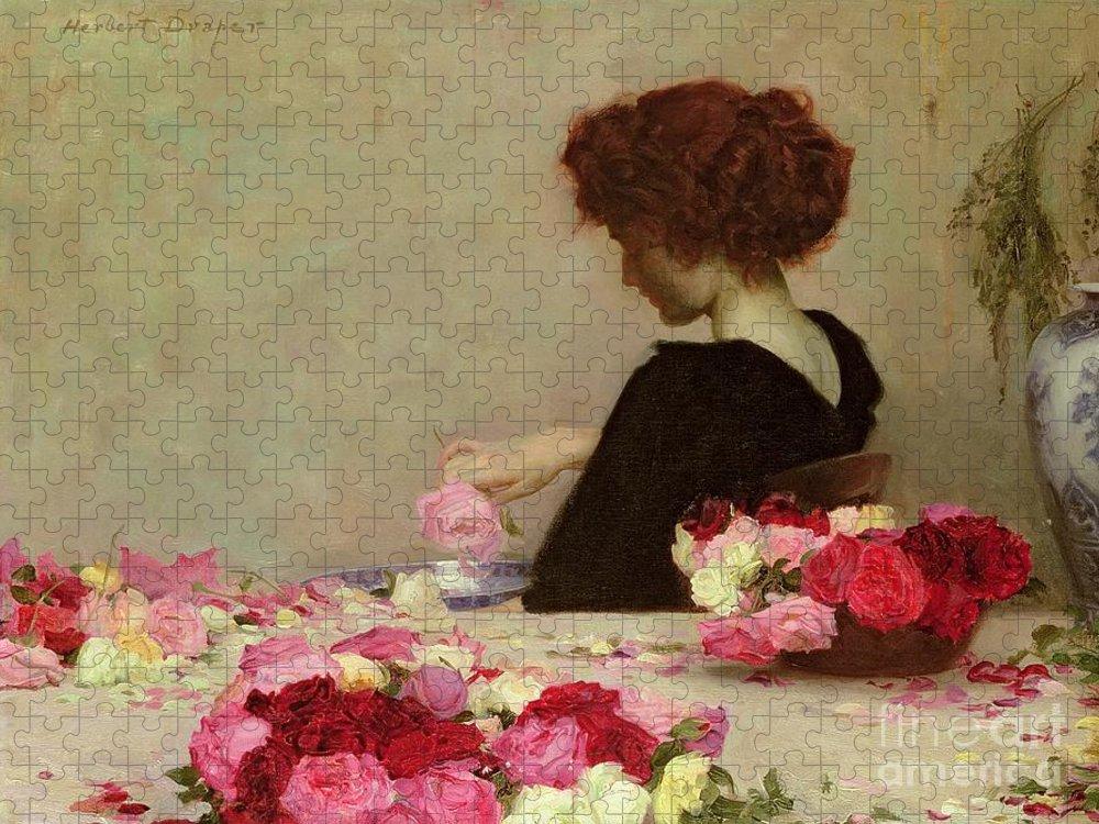Female Puzzle featuring the painting Pot Pourri by Herbert James Draper