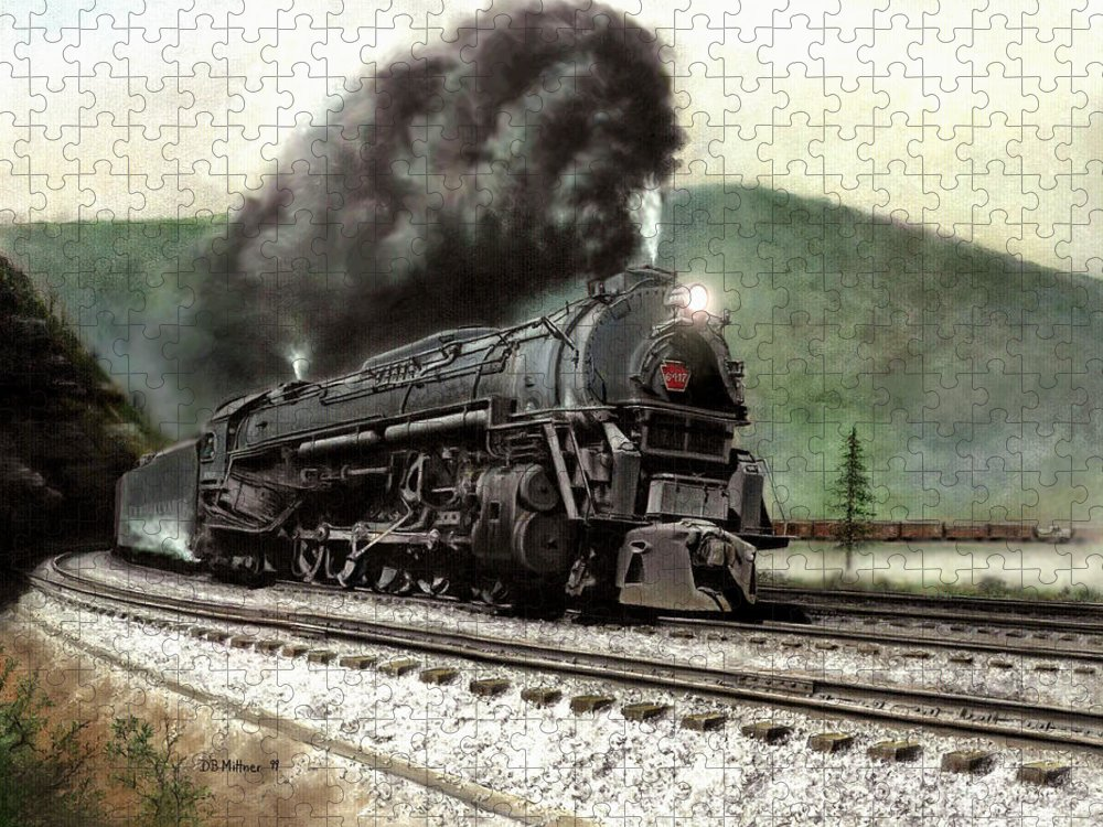 Puzzle featuring the painting Power on the Curve by David Mittner