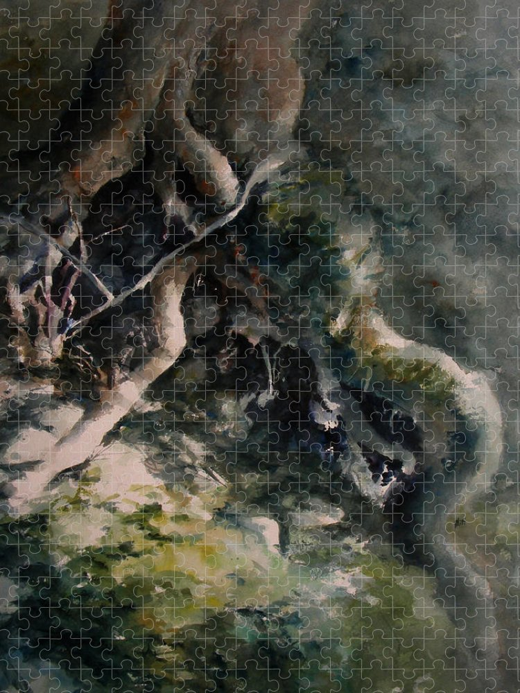 Nature Puzzle featuring the painting Revealed by William Russell Nowicki