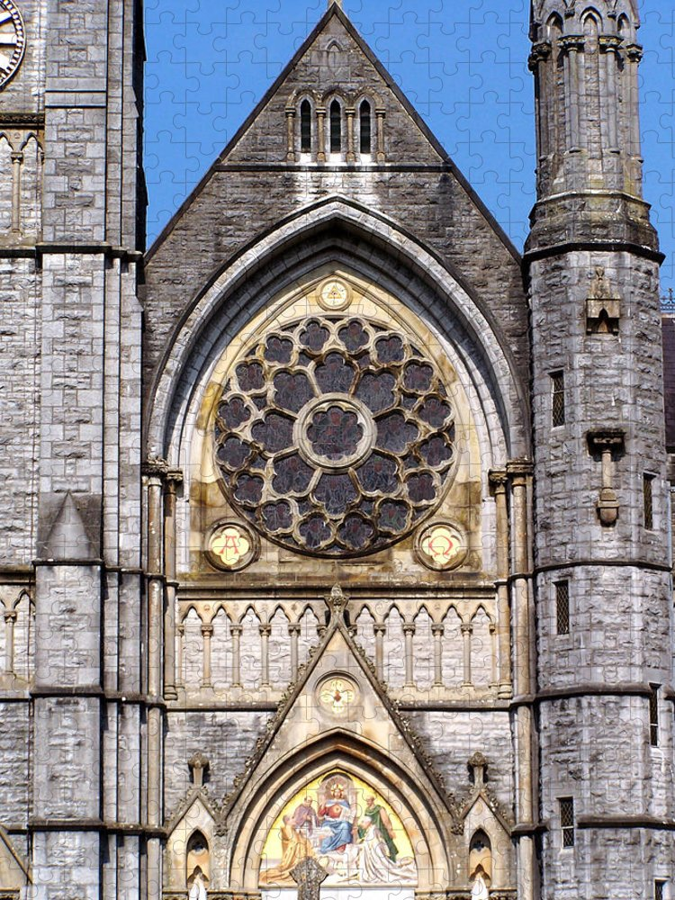 Ireland Puzzle featuring the photograph Sacred Heart Church Detail Roscommon Ireland by Teresa Mucha