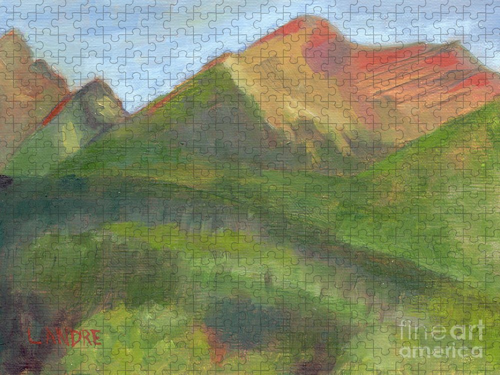 Colorado Puzzle featuring the painting Sangres II by Lilibeth Andre