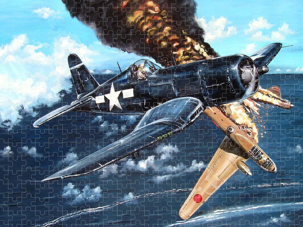 Military Puzzle featuring the painting Scratch One Betty by Marc Stewart