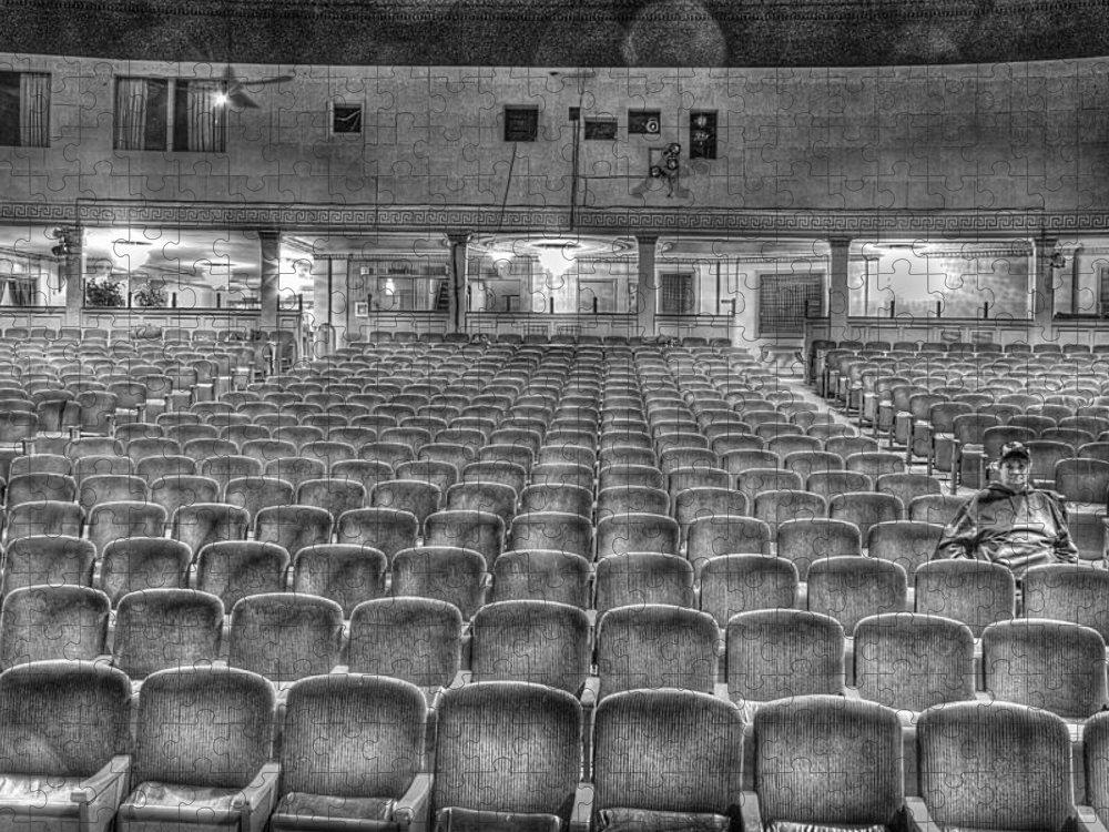 Puzzle featuring the photograph Senate Theatre Seating Detroit MI by Nicholas Grunas