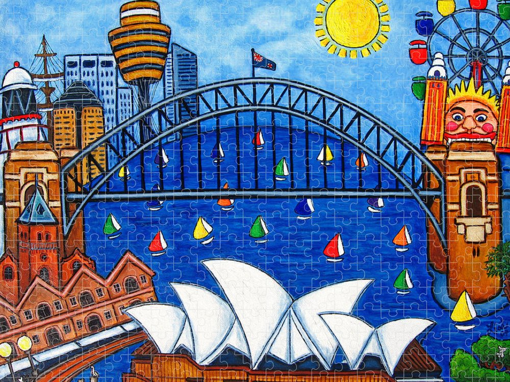 House Puzzle featuring the painting Sensational Sydney by Lisa Lorenz