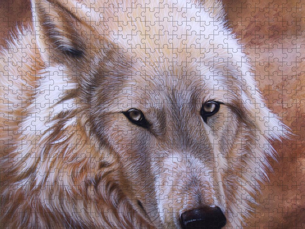Acrylic Puzzle featuring the painting Shine by Sandi Baker