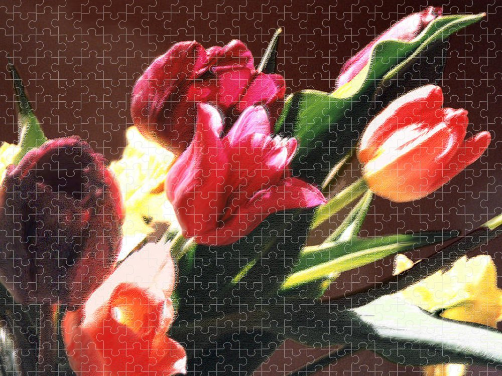 Floral Still Life Puzzle featuring the photograph Spring Bouquet by Steve Karol