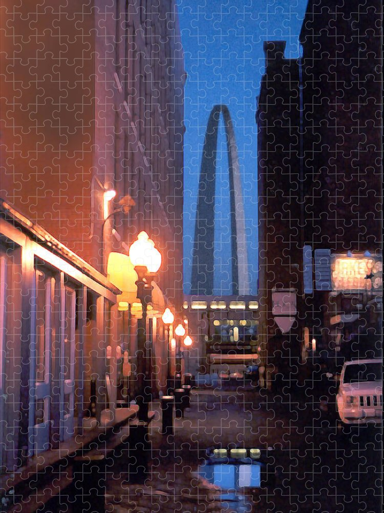 St. Louis Puzzle featuring the photograph St. Louis Arch by Steve Karol