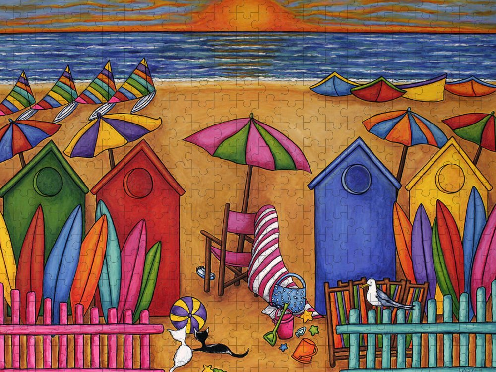 Summer Puzzle featuring the painting Summer Delight by Lisa Lorenz