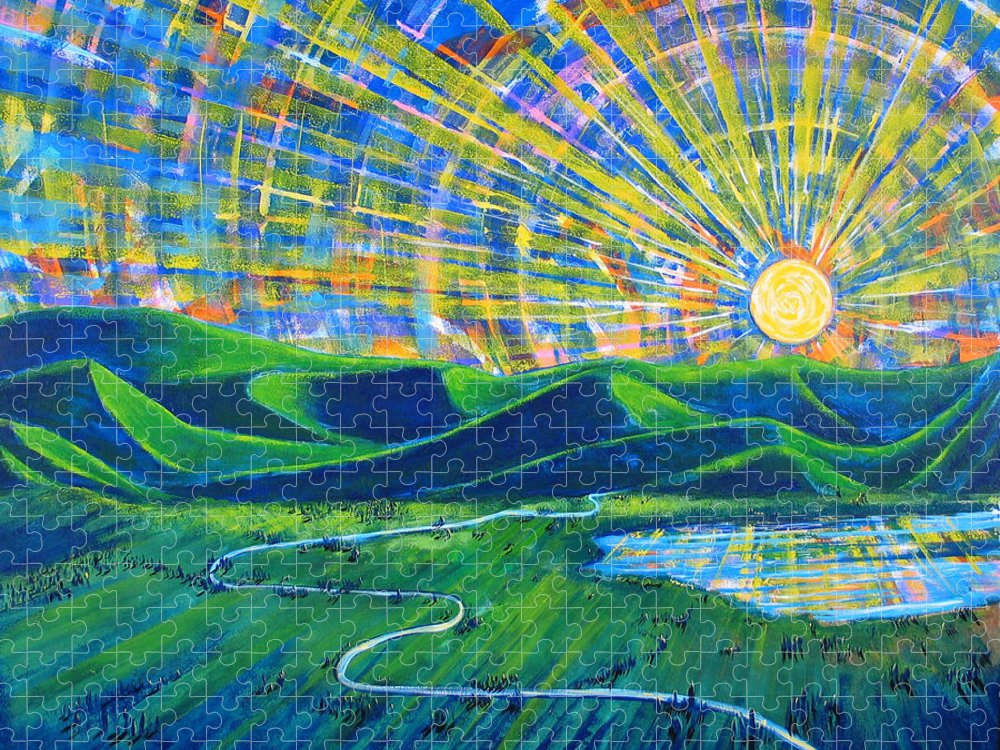 Sun Puzzle featuring the painting Sunscape by Rollin Kocsis