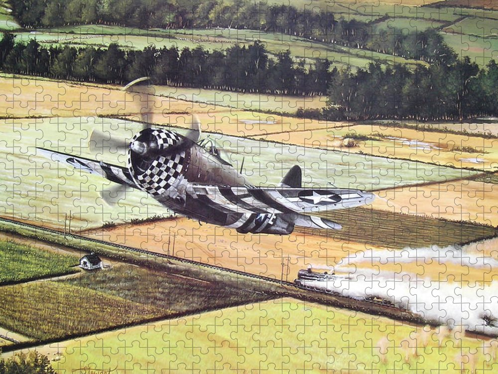 Military Puzzle featuring the painting Target Of Opportunity by Marc Stewart
