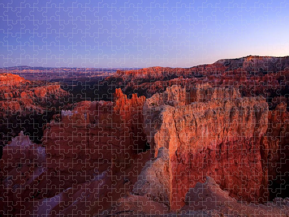 Hoodoo Puzzle featuring the photograph Temple of the setting sun by Mike Dawson