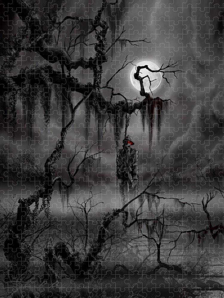 Nightmare Puzzle featuring the painting The Hangman by James Christopher Hill