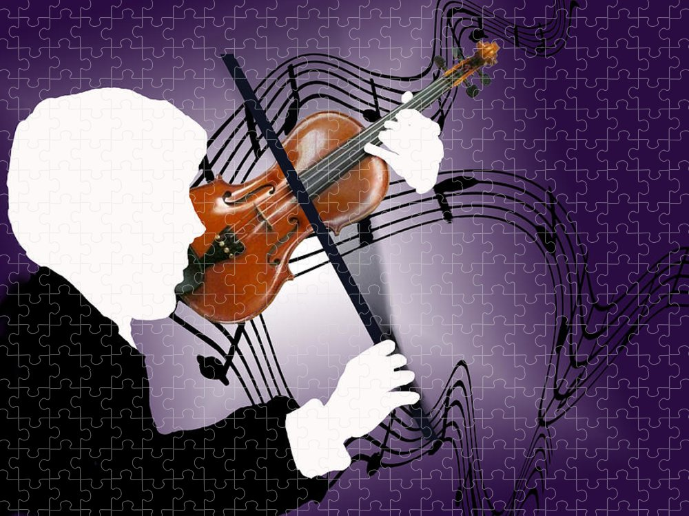 Violin Puzzle featuring the digital art The Soloist by Steve Karol