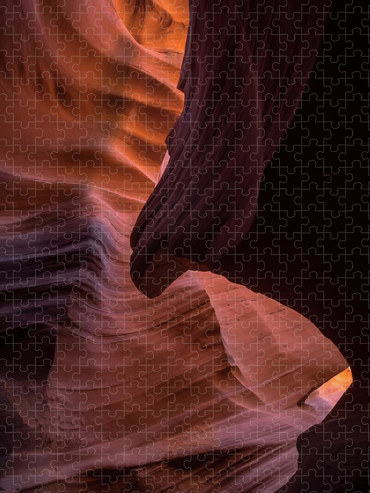 Antelope Canyon Puzzle featuring the photograph The Sphinx by Rob Wilson
