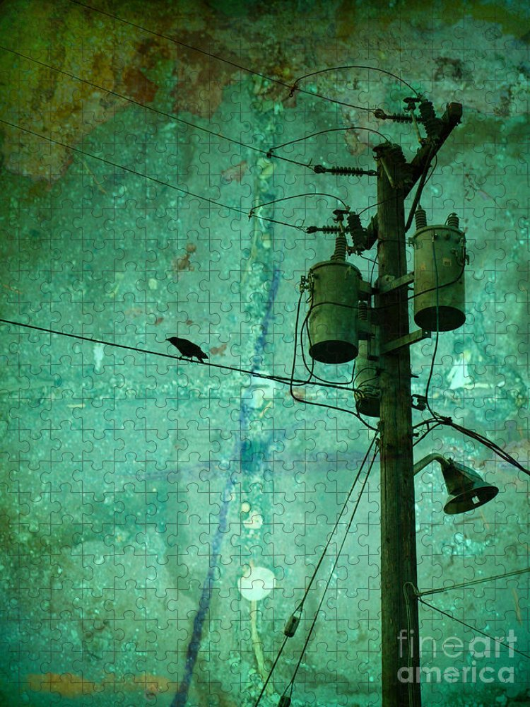 Urban Puzzle featuring the photograph The Urban Crow by Tara Turner
