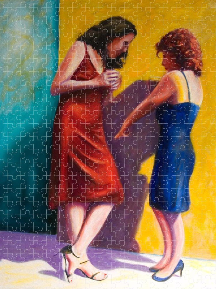 Figurative Puzzle featuring the painting There by Shannon Grissom