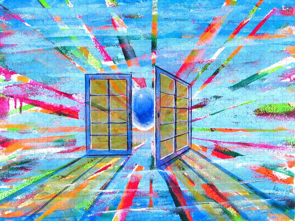 Spirt Puzzle featuring the painting These Open Doors by Rollin Kocsis
