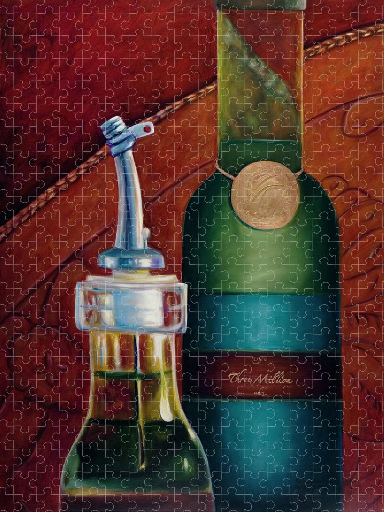Olive Oil Puzzle featuring the painting Three Million Net by Shannon Grissom