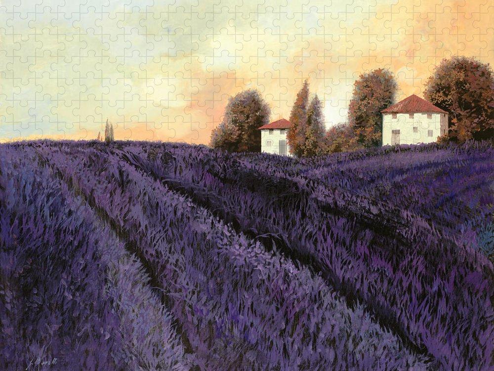 Lavender Puzzle featuring the painting Tutta lavanda by Guido Borelli