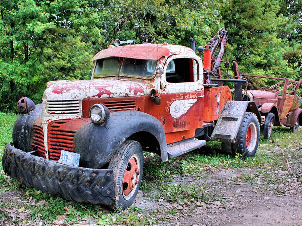 Old Truck Puzzle featuring the photograph Two for One by Kristin Elmquist