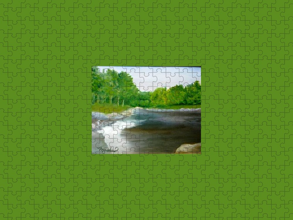 River Puzzle featuring the painting Untitled Plein Aire by Sheila Mashaw
