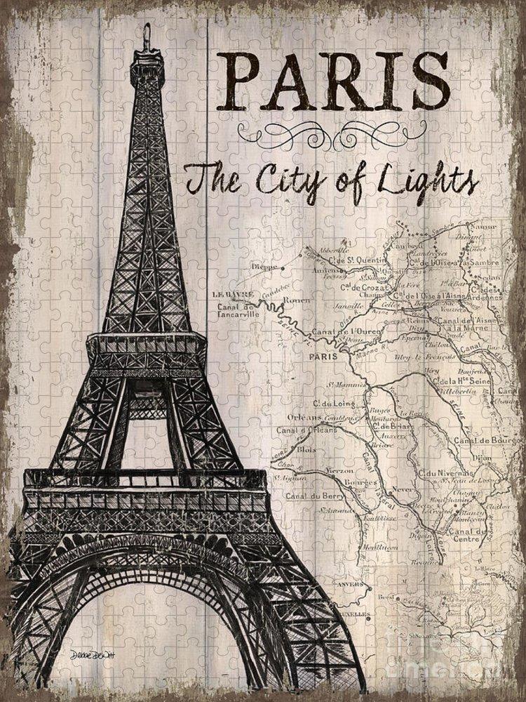 Paris Puzzle featuring the painting Vintage Travel Poster Paris by Debbie DeWitt