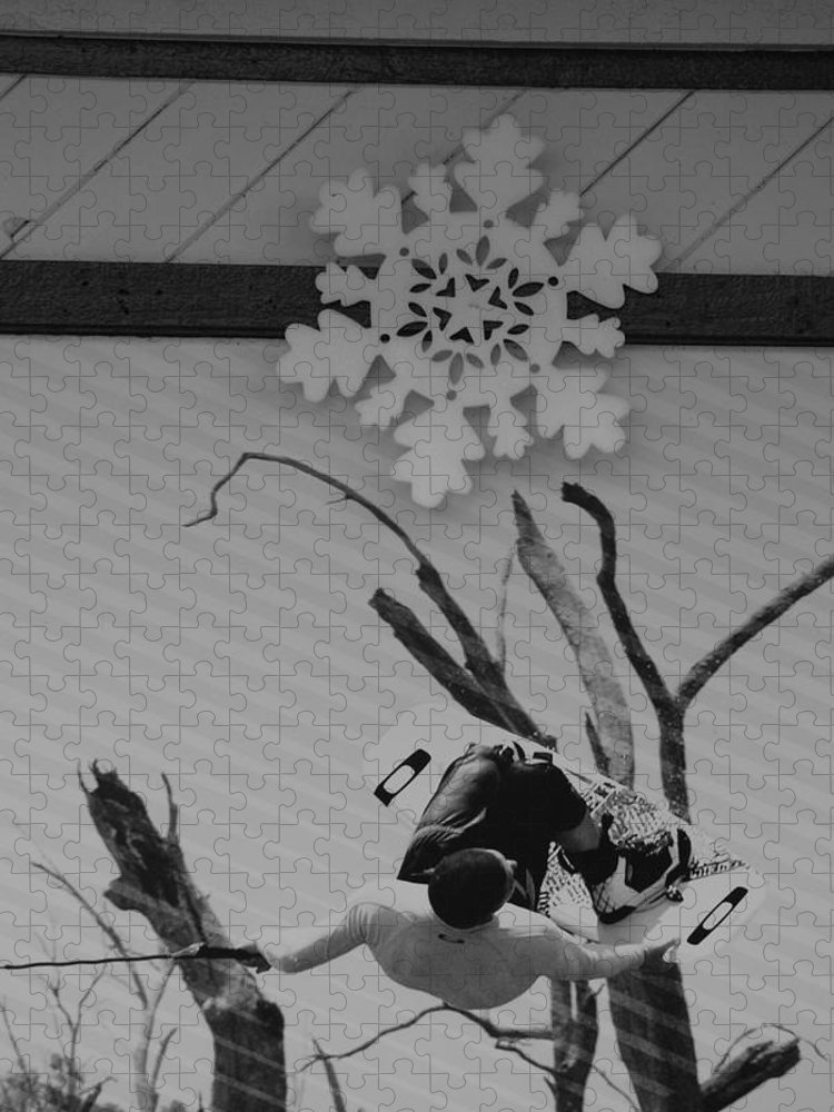 Snow Flake Puzzle featuring the photograph Wall Surfing With A Snow Flake by Rob Hans