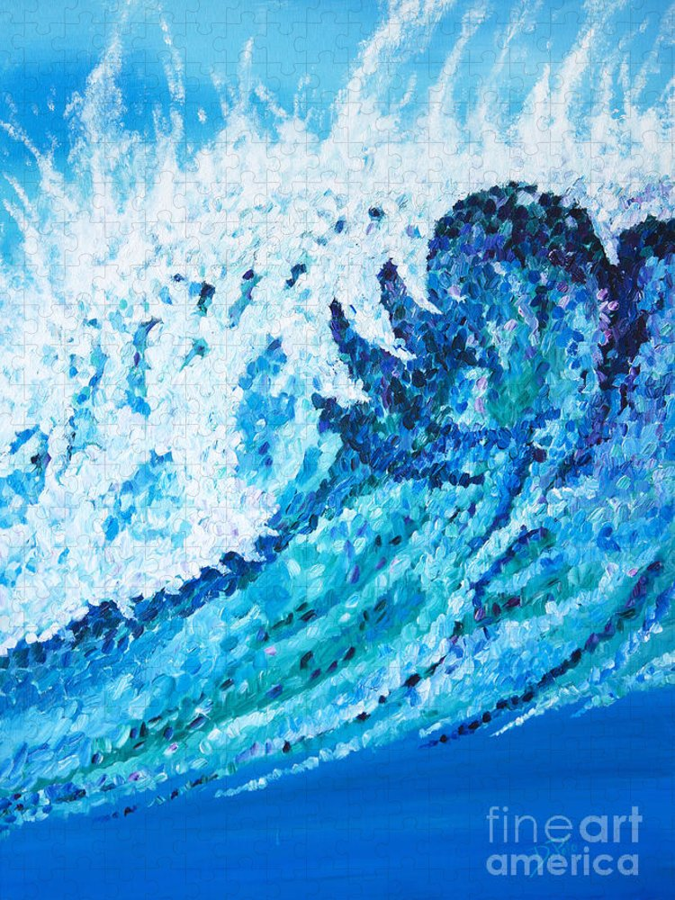 Ocean Puzzle featuring the painting Watercolor by JoAnn DePolo