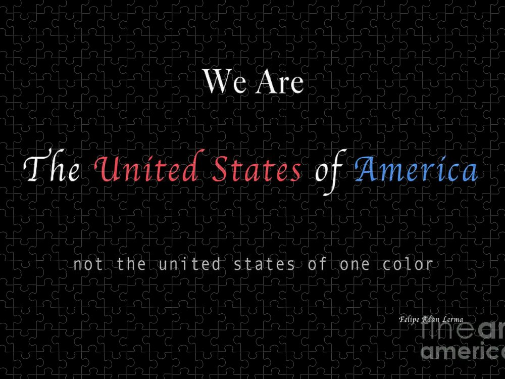 Patriotic Puzzle featuring the photograph We Are the United States of America by Felipe Adan Lerma