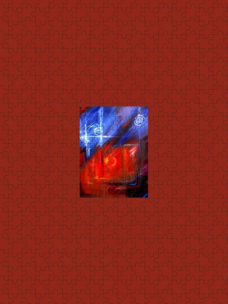 Abstracts Puzzle featuring the painting Windows by James Christopher Hill