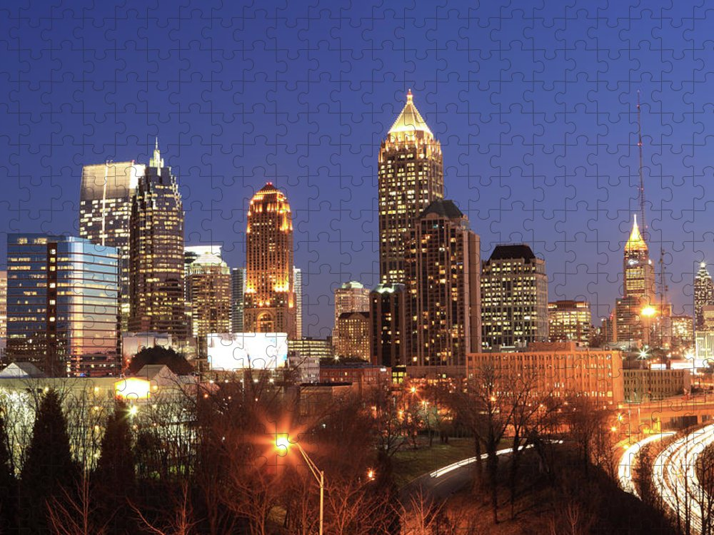 Atlanta Puzzle featuring the photograph Atlanta, Georgia by Jumper