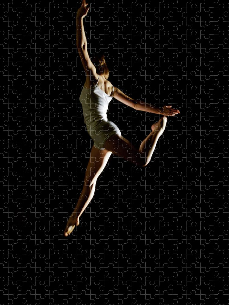 Ballet Dancer Puzzle featuring the photograph Ballet And Contemporary Dancers by John Rensten