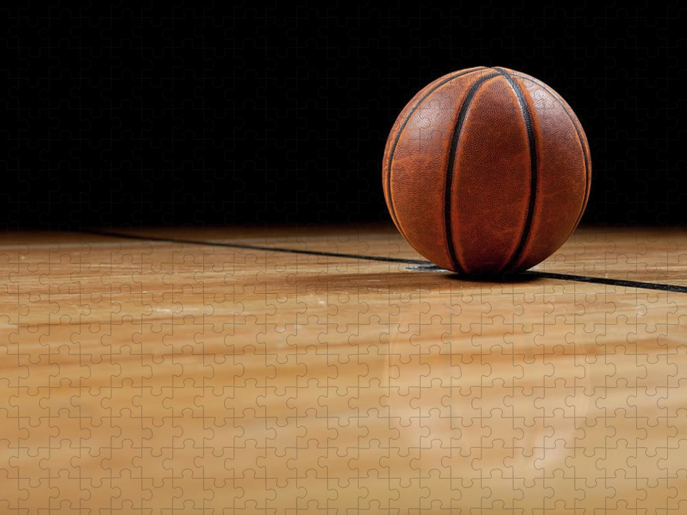Ball Puzzle featuring the photograph Basketball by Garymilner