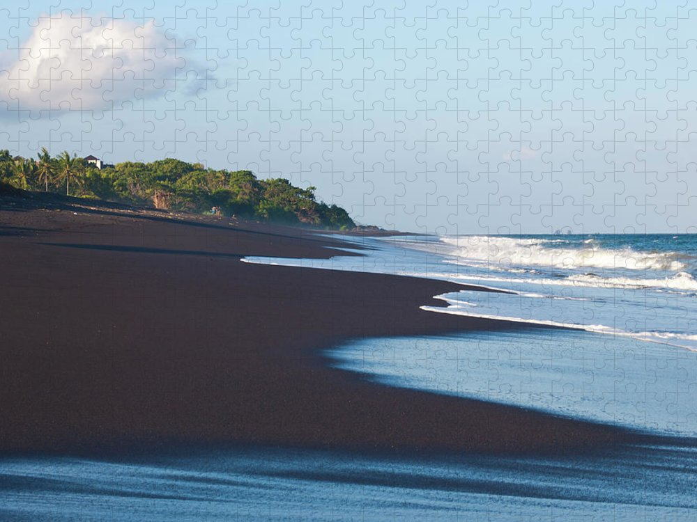 Long Puzzle featuring the photograph Black Sand Beach by Davorlovincic