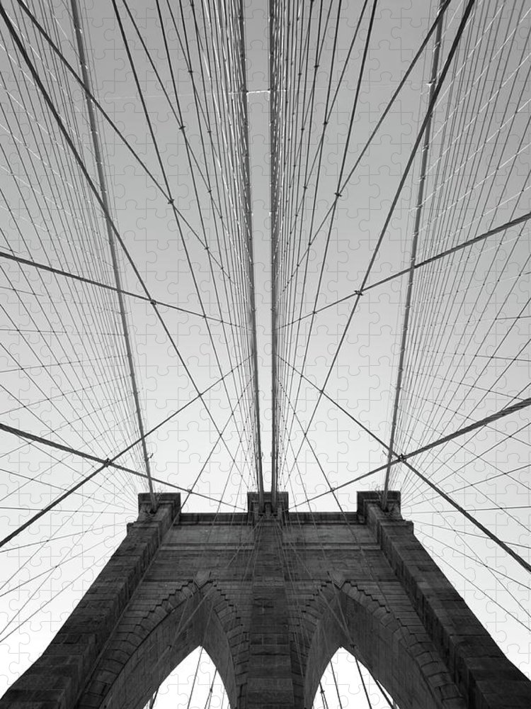 Arch Puzzle featuring the photograph Brooklyn Bridge by Jimschemel