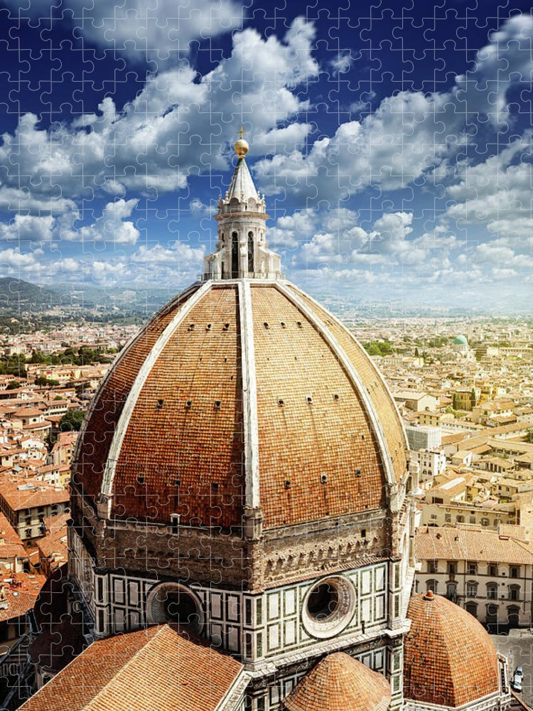 Scenics Puzzle featuring the photograph Duomo In Florence by Da-kuk